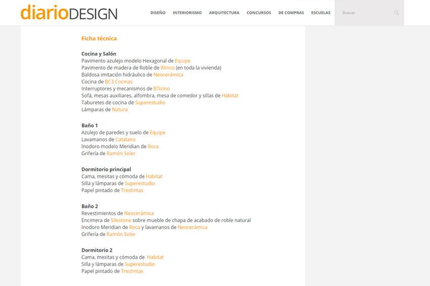 Web de Diario Design.
