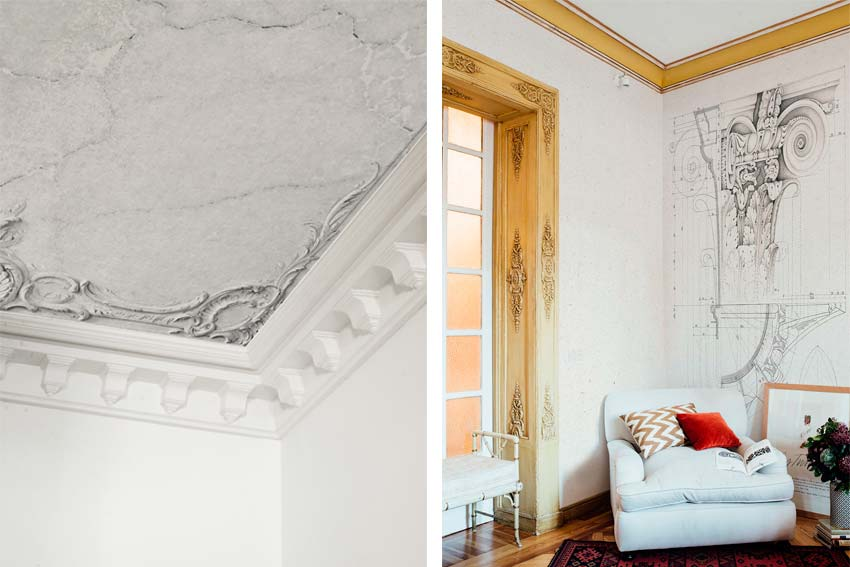 Modelos Broken ceiling y Roma de papel pintado de la marca barcelonesa Coordoné.