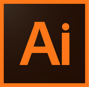 Logo del programa para ordenador Illustrator.
