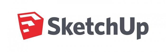 Logo del programa de ordenador Sketchup.