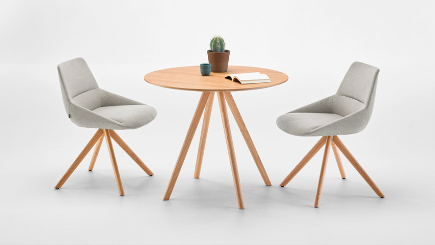 Mesas modelo Sticks de la marca Inclass.