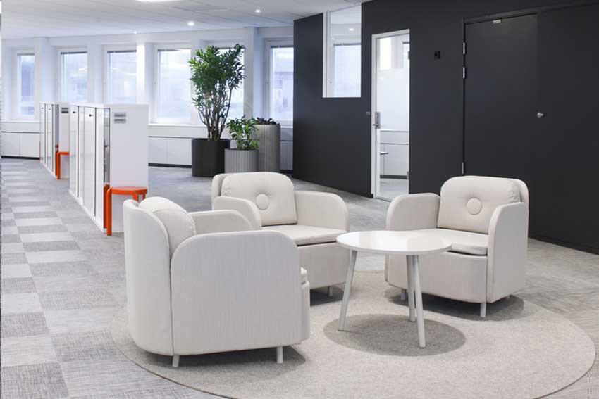 Utilización de los colores combinándolos con el mobiliario.