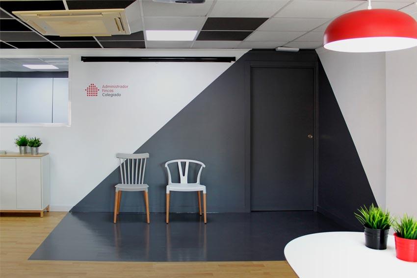 Reforma de las oficinas de la empresa Gómez & Camacho Administradores realizada por Marcando la Diferencia.