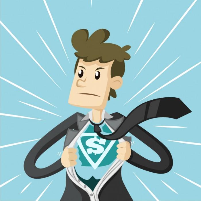 Imagen de una persona quitándose la chaqueta con el traje de superman debajo.