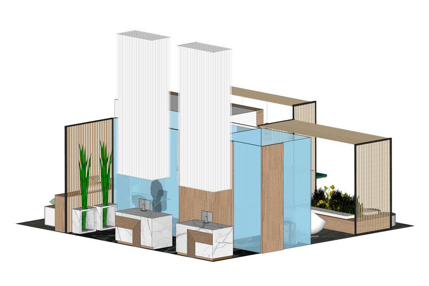 Vista posterior del proyecto que ha conseguido el accesit en Hotel Lab.