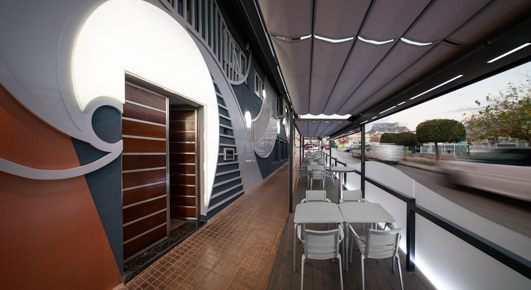 Terraza del Restaurante La Sirena